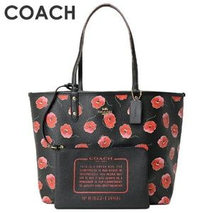 REVERSIBLE CITY TOTE WITH POPPY PRINT COACH F39481